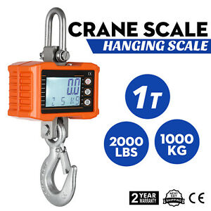 1000kg 1ton 2000 Lbs Digital Crane Scale Heavy Duty Hanging Scale Ocs s From Us