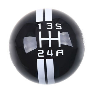 Black Manual Car Gear Shift Knob Shifter Refit For Ford Mustang Gt500 5 Speed