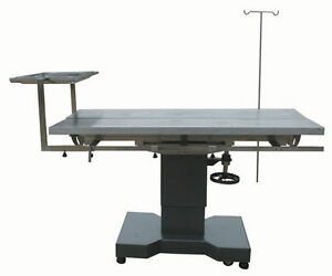 New Veterinary Surgical Operating Table Dh27 Hydraulic Lift Stainless Tilt V top