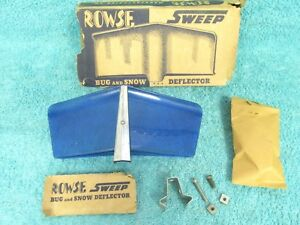 Vintage Ford Chevy Dodge Hood Mounted Bug Snow Deflector Sweep Nos Rowse 1017