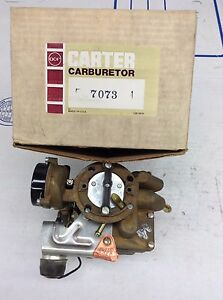 Nos Carter Yf Carburetor 7073s 1975 Amc Jeep 232 258 Engine