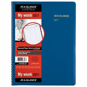 At a glance Weekly Appointment Book Planner 2017 8 1 4 X 10 7 8 Fashion