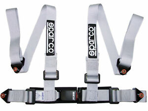 Sparco Racing Seat Belt Safety Harness Street Tuner 2 4 Point Bolt In Silver