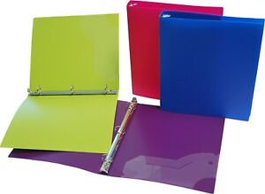 Filexec 3 Ring Binder 1 5 Inch Capacity Opaque Letter Size pack Of 4 Blue