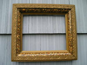 Beautiful Antique Aesthetic Eastlake Victorian Deep Well Picture Frame 10 X 12