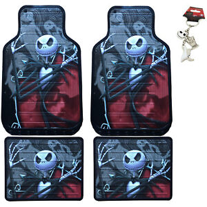 New Nightmare Before Christmas Car Truck Front Back Rubber Floor Mats Keychain