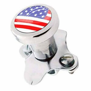 Polished Steering Wheel Spinner Suicide Brody Knob Rod Car Truck Usa Flag