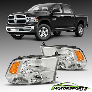 2009 2017 Dodge Ram 1500 10 17 2500 3500 Crystal Chrome Headlights Headlamps