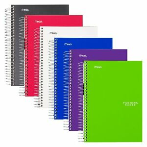 Five Star Spiral Notebooks 5 Subject College Ruled Paper 180 Sheets 9 1 2 X