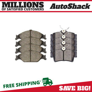 Front And Rear Ceramic Brake Pads For 1999 2000 2001 2002 2003 2004 Ford Mustang