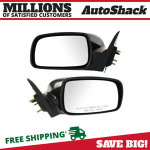 Pair 2 Power Black Side View Mirror Fits 2007 2008 2009 2010 2011 Toyota Camry