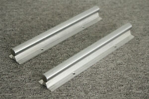 2x Cnc Linear Motion High Precision Sbr16 600mm Linear Bearing Guide Rail