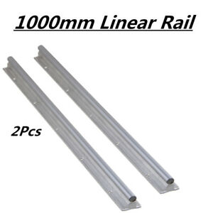 2x Sbr12 1000 Fully Supported Linear Rail Slide Guide Shaft Rod For Cnc