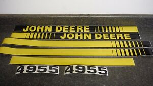 John Deere 4955 Tractor Decals Hood Numbers Only See Details Pictures