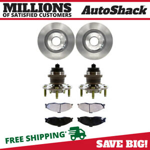 Front Hub Assembly Ceramic Brake Pad Rotor Bundle For 1998 2002 Camaro Firebird