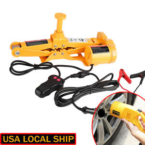 Heavy Duty Electric Scissor Car Jack Lift 3 Ton 1 2 Impact Wrench 12v Dc Auto