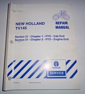 New Holland Tv145 Tractor Cab Engine End Pto s Service Repair Shop Manual Nh
