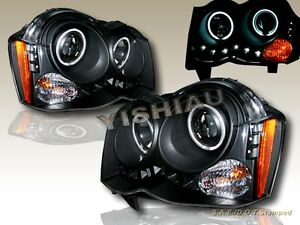 08 10 Jeep Grand Cherokee Dual Ccfl Halo Projector Headlights Led Black