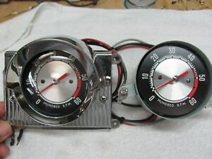 Vintage Stewart Warner 6k Marine Boat 12v Tachometer With Surround 1966 Used