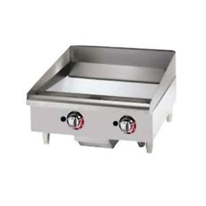 Star 624tchsf Star max 24 Chrome Gas Griddle Flat Top Grill