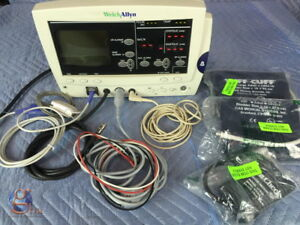 Welch Allyn Atlas 6200 Series Monitor With Pictured Cables Accessories