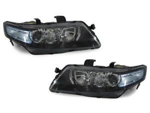 Depo Euro R Cl7 Jdm Headlights Blue Clear Lens Fit 04 05 06 07 08 Acura Tsx