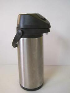 Adcraft Brushed Stainless Steel Vacuum Air Pot Coffee Beverage Dispenser 3 0l