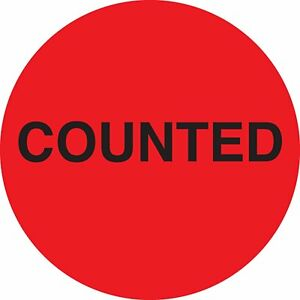 Ace Label Preprinted Round Counted Inventory Control Label 2 inch In Diameter
