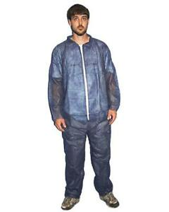 Disposable Coverall Overall Polypropylene Navy Painters Suit Large Lot Of 25