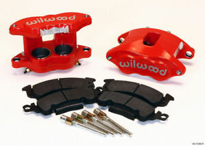 Wilwood D52 Brake Caliper Pad Set W Pins Front 1 28 Red Big Gm Calipers Pads