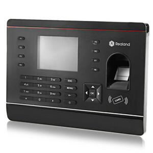 2 8 Realand A c061 Tft Biometric Fingerprint Time Attendance Checking Recorder