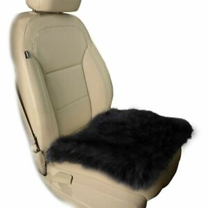 Zone Tech Black Faux Sheepskin Car Seat Home Cushion Fur Pad Cover Warm Mat