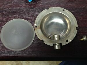 Antique Vintage Automobile Bicycle Miner Tail Light Bucket Lens Parts