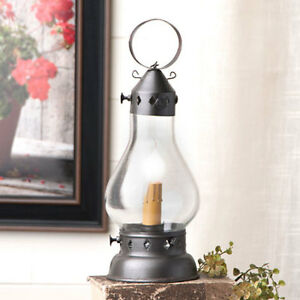 Country New Small Black Hurricane Lantern Light Nice