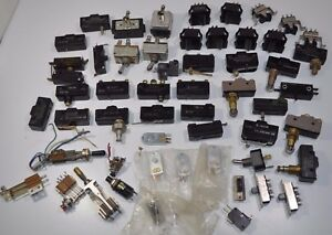 Huge Lot Of Various Switches Toggle Rocker Limit Microswitch Cutler Hammer