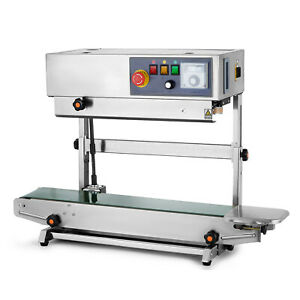 Automatic Continuous Band Sealer Vertical Bag Sealing Machine Stainless Steel