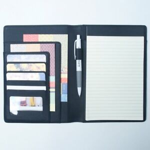 Ahzoa 6 Pockets A5 Memo Padfolio S1 Synthetic Leather Handmade 6 3 X 8 66 Inch