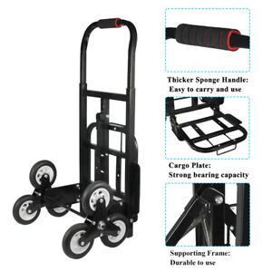Portable Stair Climbing Folding Cart Climb Hand Truck Dolly Backup Wheels Tool