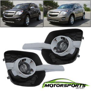 glass Projector Lens 2010 2016 Chevy Equinox Bumper Driving Fog Lights Pair