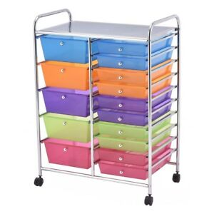 15 Drawers Rolling Storage Cart Organizer