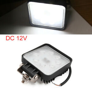 Dc 12v White 8 Led Car Drl Fog Driving Daylight Square Daytime Running Light