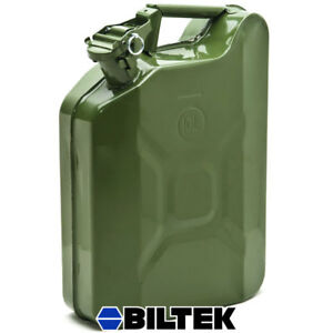 Jerry Can 2 1 2 Gallon 10l Gas Fuel Army Nato Military Style Metal Green Prepper