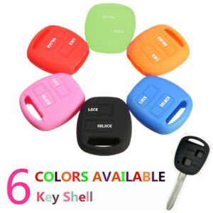 2 Button Silicone Flip Key Shell Cover For Toyota Camry Corolla Rav4 Prado Echo
