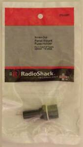 Radioshack Screw cap Panel Mount Glass Fuse Holder 10a 250vac Fits 1 1 4 X 1 4
