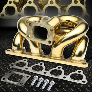 For 1990 2001 Acura Db Dc Integra B Series Engine Gold Ramhorn T3 Turbo Manifold