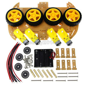 New 4wd Robot Smart Car Chassis Kits Car With Speed Encoder For Arduino