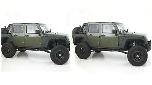 Smittybilt 76880 76882 Black Front rear Xrc Armor Fenders For Jeep Wrangler Jk