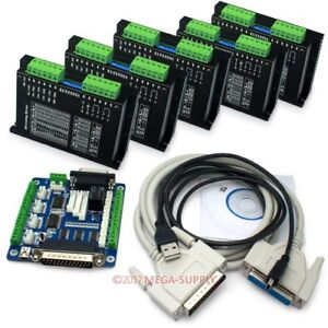 Cnc Kit 5 Axis Cnc Breakout Board cables 5 Axis M542 Stepper Driver Controller