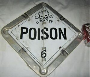 Industrial Truck Shipping Aluminum Safety Sign Skull Danger Poison Non Porcelain