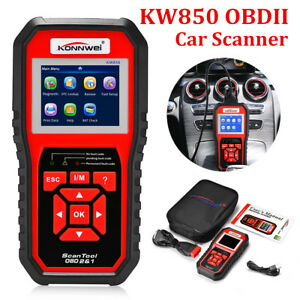 Kw850 Elm327 Eobd Obd2 Obdii Dtc Scanner Car Code Reader Tester Diagnostic